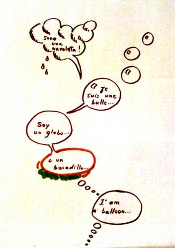 Giovanni Zucca, Vanessa De Pizzol, SFT, Traduire, nuvolette, nuages, bulles, BD, balloon, globo, bocadillo