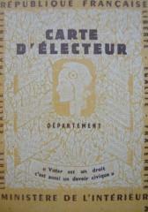 carte d'électeur,carte électorale